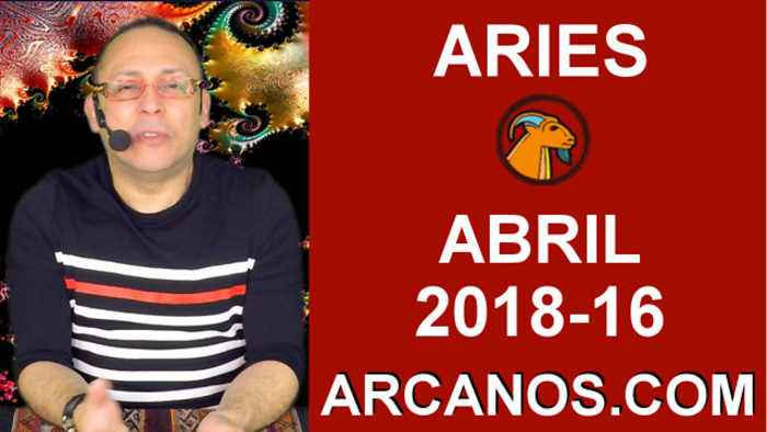 News video: ARIES ABRIL 2018-16-15 al 21 Abr 2018-Amor Solteros Parejas Dinero Trabajo-ARCANOS.COM