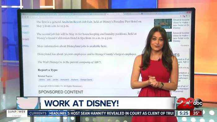 News video: Disneyland hosting two job fairs in the next month