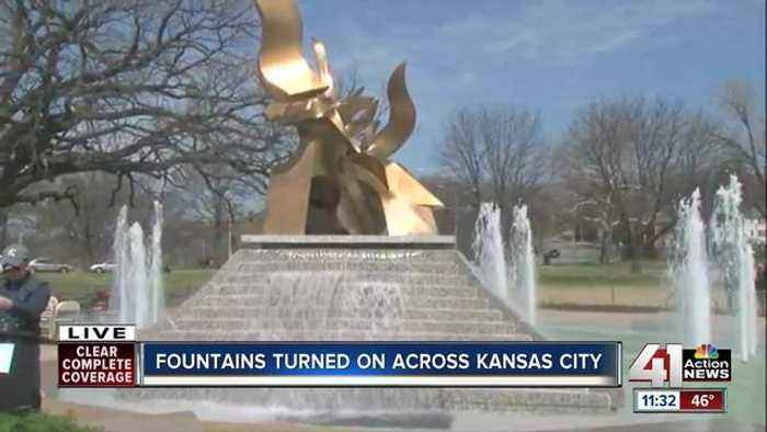 News video: Fountains turned on across Kansas City