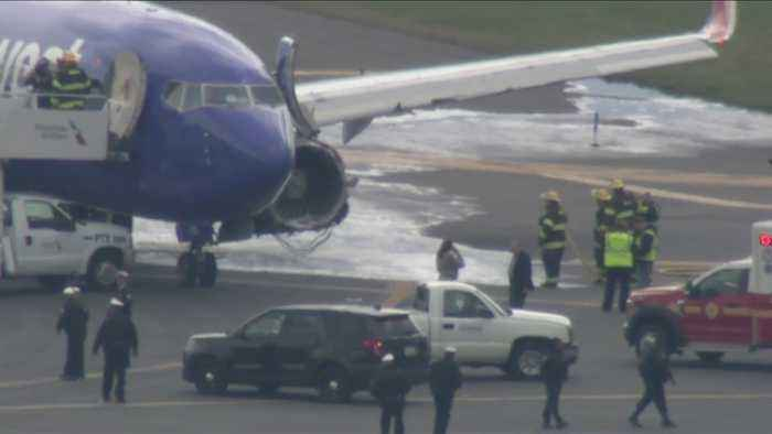 News video: Southwest Airlines Plane Makes Emergency Landing At PHL