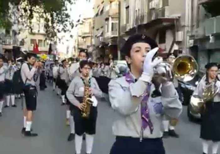 News video: Parade With Brass Band Marks Independence Day in Damascus