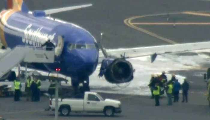 News video: SOUTHWEST ENGINE FIRE: Southwest jet maks an emergency landing at Philadelphia International Airport after an engine blew out