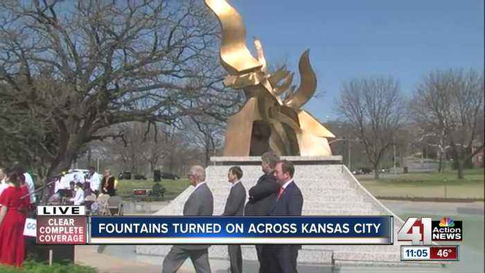 Kansas City's fountains spring to life on 'Fountain Day'