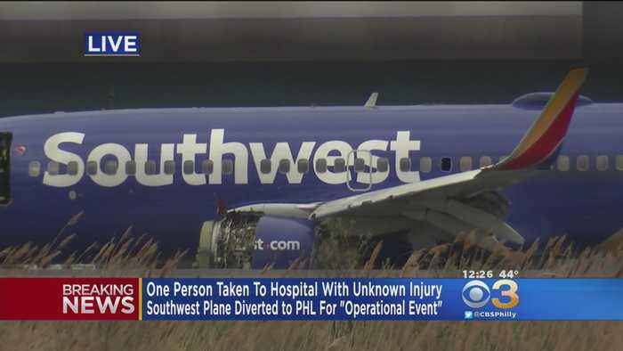 News video: Southwest Airlines Plane Makes Emergency Landing At PHL After Reported Fire