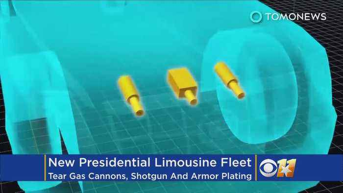 News video: A Look At The Security Features Inside The New Presidential Limousine Fleet