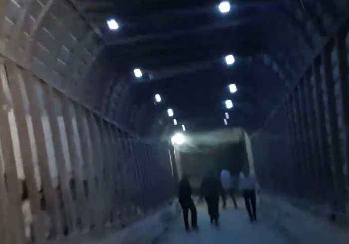 News video: Syrian Government Forces Tour Undeground Network of Jayesh al-Islam Tunnels in Douma