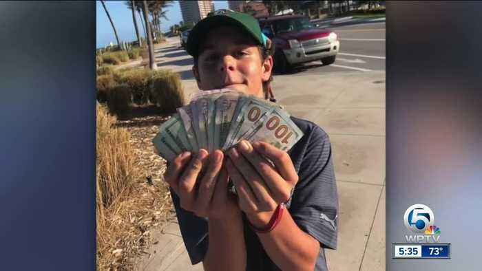 Teenager finds $1,500 in cash on Juno Beach, turns it in to police