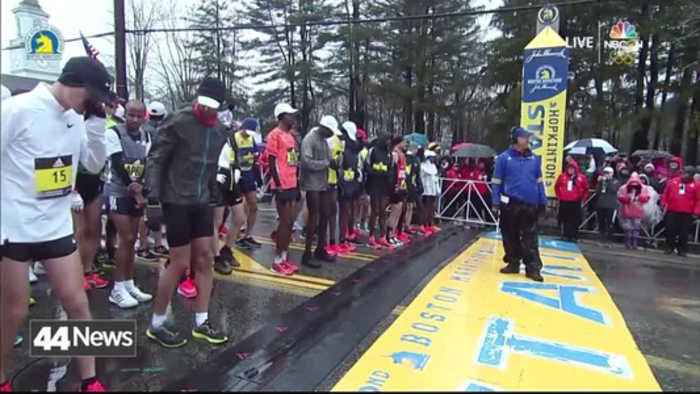 News video: Tri-State Runners Brace Cold Temperatures To Run Boston Marathon