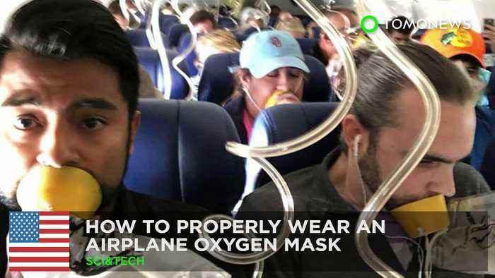 How to properly use an airplane oxygen mask