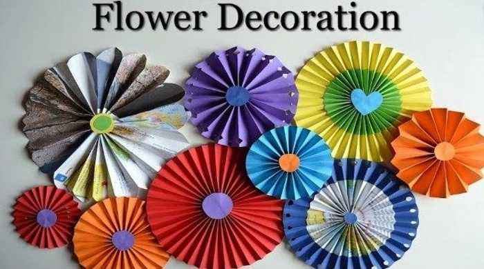 Diy wall decorations how to make paper rosette one news page video news video diy wall decorations how to make paper rosette flowers mightylinksfo