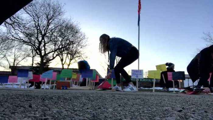 News video: Wisconsin Students Create Memorial for Gun Violence Victims