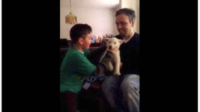 News video: Boy Gets Really Emotional Over His Birthday Present