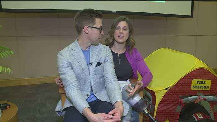 News video: Couple Injured In Boston Marathon Bombing Share Their Story At Shriners Hospital