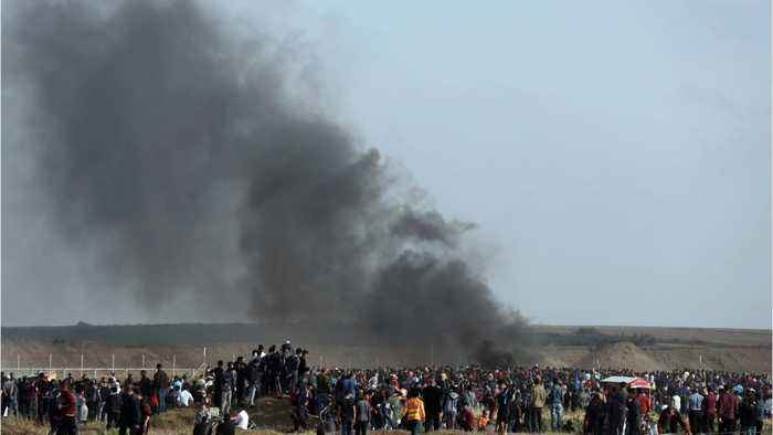 News video: Israeli Forces Kill Three Gaza Border Protesters, Wound 600