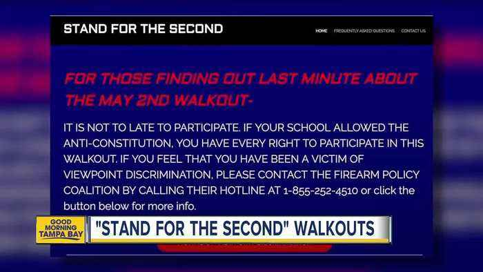 News video: Student walk outs support second amendment