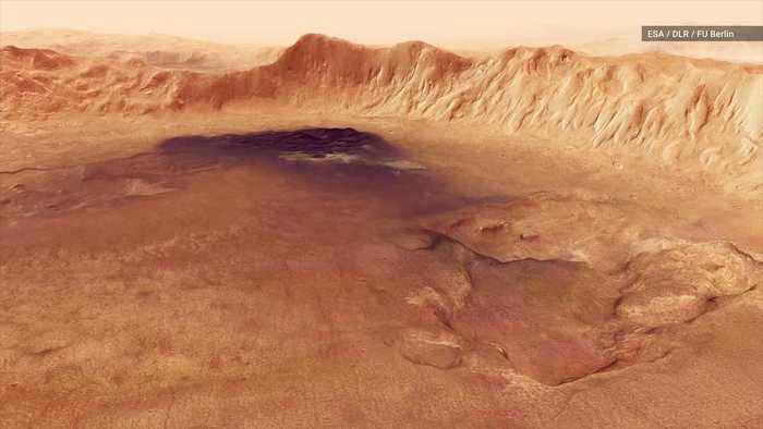 News video: ESA Shares Stunning Flyover of Mars' Neukum Crater