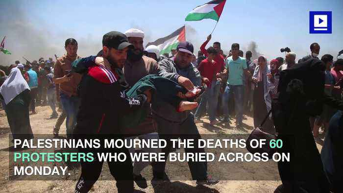 News video: Palestinian Protests Continue After Israeli Troops Kill 60