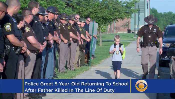 News video: 5-Year-Old Boy Gets Police Escort To School After Dad Dies In Line Of Duty
