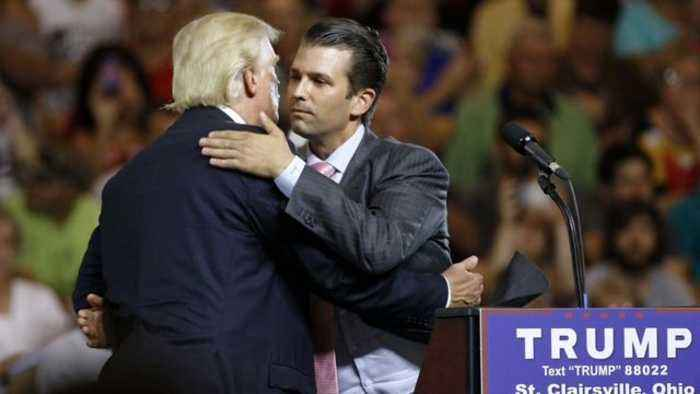 News video: Trump Jr. Denies Telling Dad Before Meeting Russians at Trump Tower
