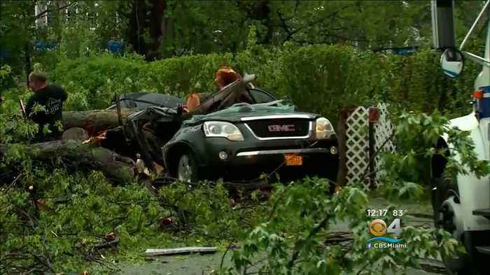 Powerful Storms Roared Through The Northeast Tuesday