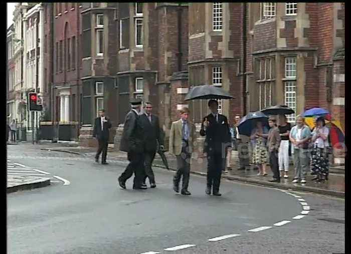News video: FILE: Prince Harry arrives for first day at Eton College