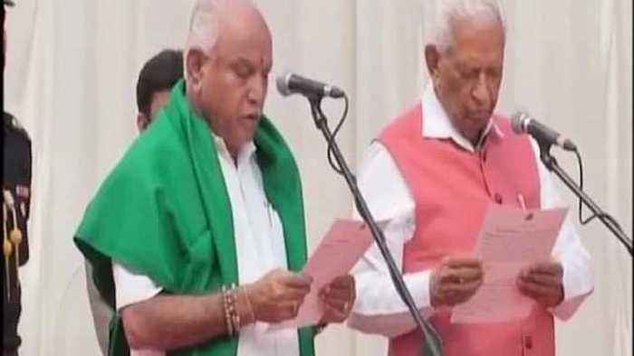 B S Yeddyurappa takes oath as Chief Minister of Karnataka