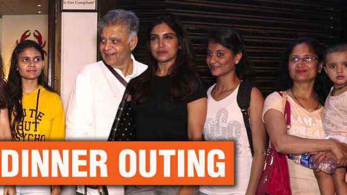 News video: Bhumi Pednekar and Her Family Spotted On A Dinner Outing