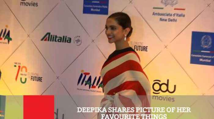 Deepika Shares Picture Of Her Favourite Things