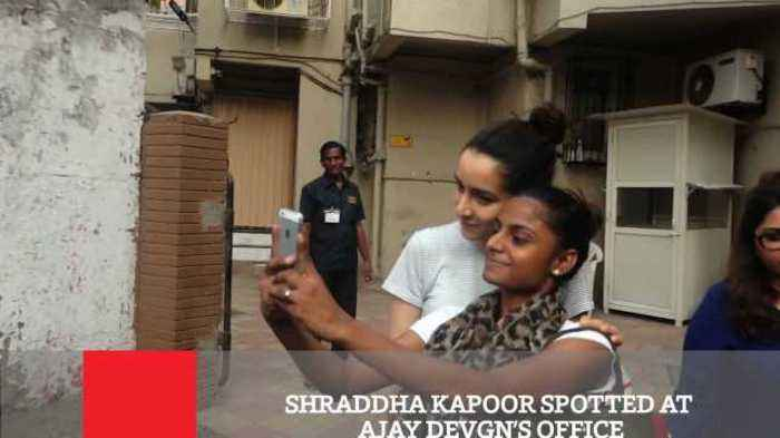 Shraddha Kapoor Spotted At Ajay Devgn's Office