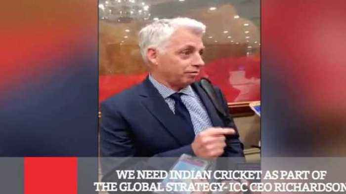 News video: We Need Indian Cricket As Part Of The Global Strategy- ICC CEO Richardson