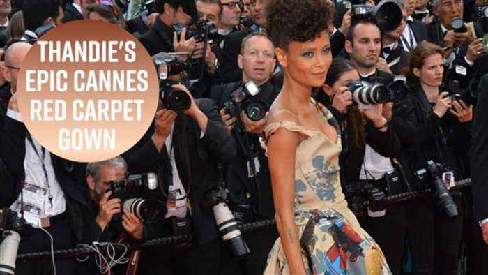 News video: Thandie Newton's gown celebrates Black Star Wars actors