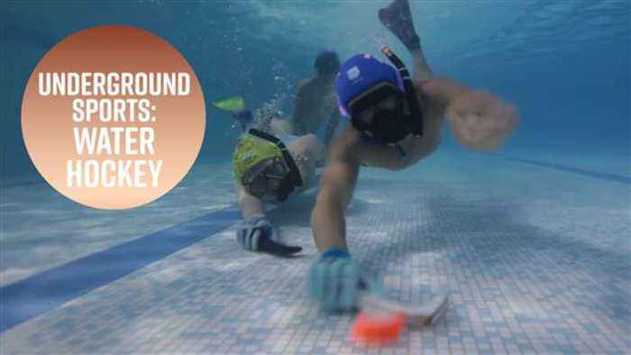 News video: Forget ice hockey, the real action is underwater