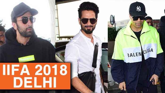 News video: Ranbir Kapoor, Shahid Kapoor, Karan Johar Leave For IIFA 2018 Delhi Press Conference