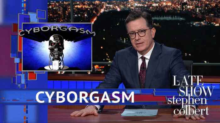 News video: Stephen Colbert's Cyborgasm: Google Duplex