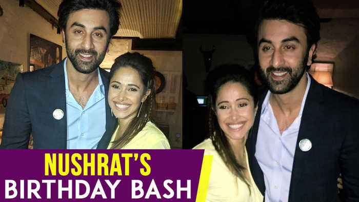 Alia Bhatt's Crush Ranbir Kapoor Attends Nushrat Bharucha Birthday Party