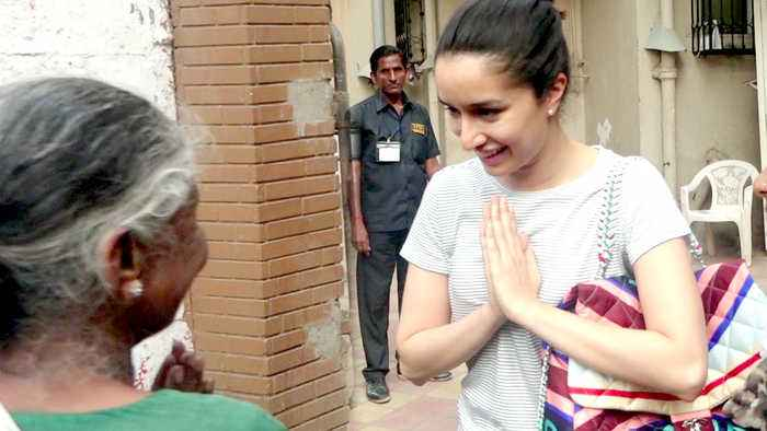 Shraddha Kapoor SWEET GESTURE Towards An Old Lady Outside Ajay Devgn's Office