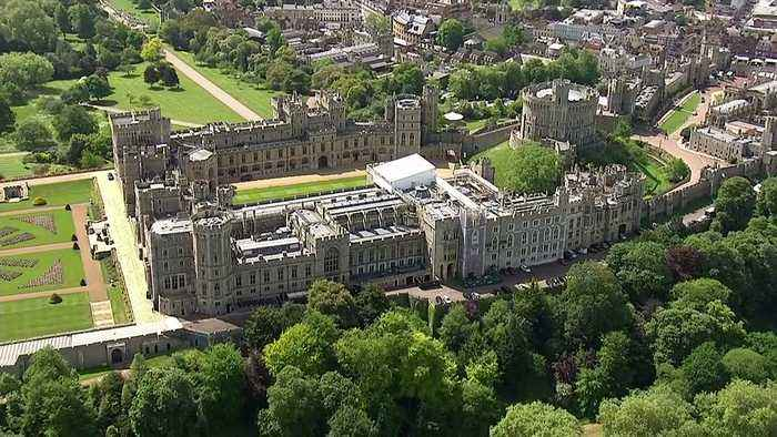 Windsor Castle as final preperations take place for Prince Harry's wedding to Meghan Markle