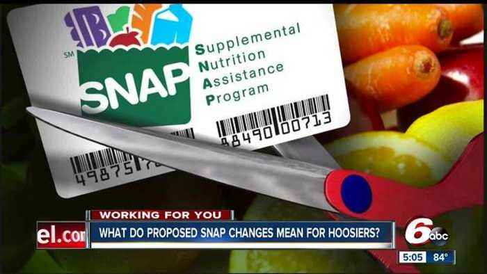 Big changes could be coming for thousands of Hoosiers who receive food stamps