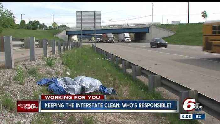 News video: The Indiana Department of Transportation spends more than $5 million per year picking up trash along interstates