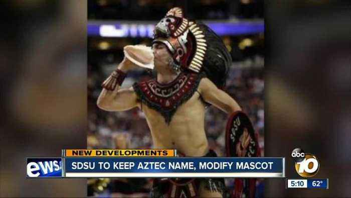 News video: SDSU to keep Aztec name, modify mascot