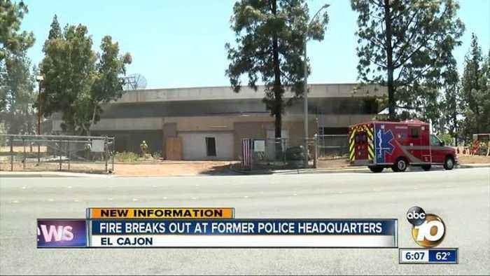 News video: Smoke billows from old El Cajon police station