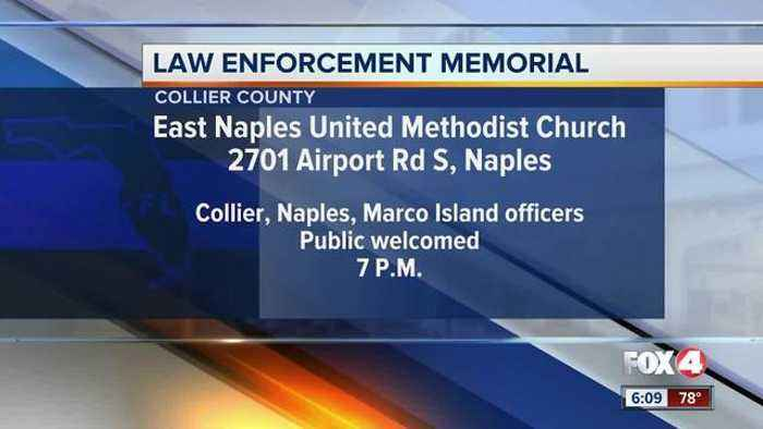 News video: Collier County law enforcement officers hold memorial for fallen officers