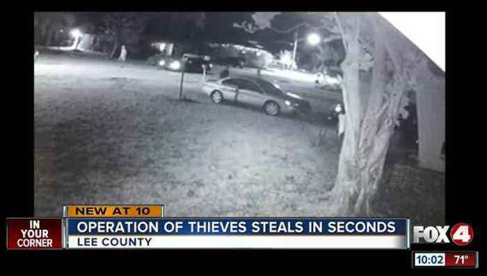 News video: CAUGHT ON VIDEO: Thieves break in cars in seconds