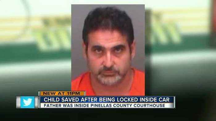PD: Dad left 4-year-old in locked car for 2 hours while he was inside courthouse for hearing