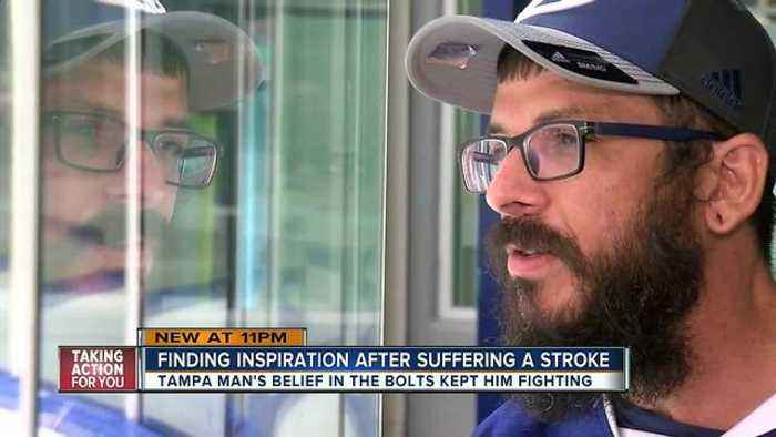Stroke Survivor says Tampa Bay Lightning inspired him to walk again