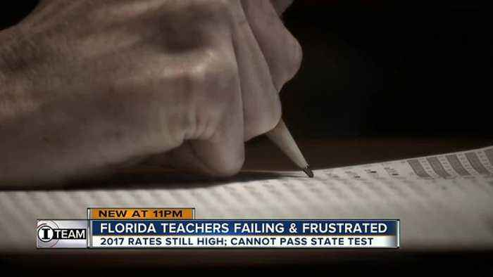 News video: Failing & frustrated, Florida teachers still flunking state exam at high rates