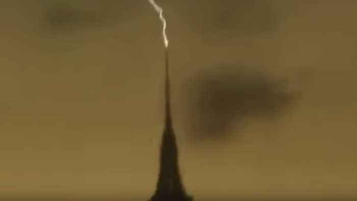 Lightning Appears to Strike Empire State Building on May 15