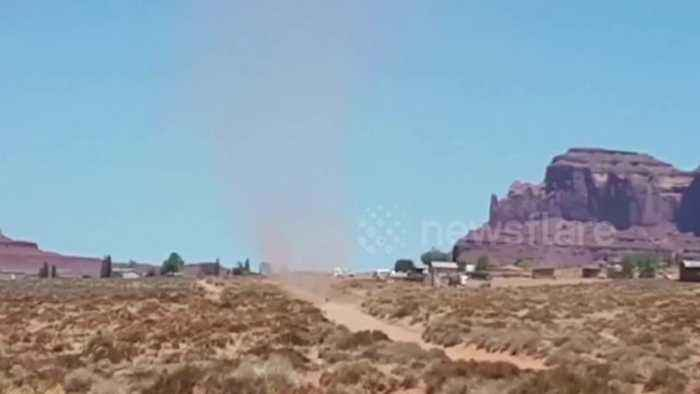 News video: Huge dust devil captured on camera in Arizona