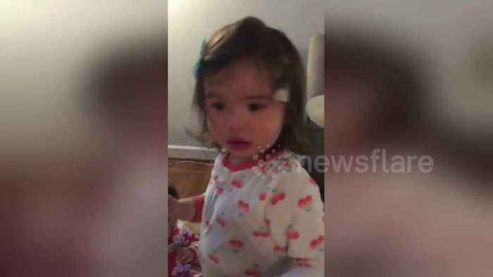News video: Naughty sisters caught red-handed after making a mess in the house