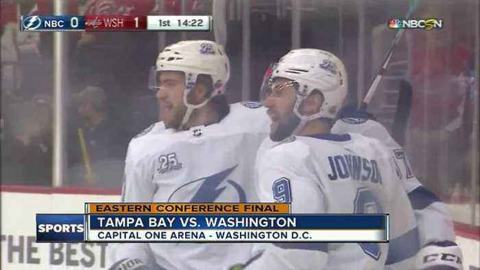 Andrei Vasilevskiy helps Tampa Bay Lightning top Washington Capitals 4-2 to even East Finals 2-all